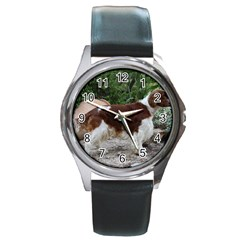 Welsh Springer Spaniel Full Round Metal Watch
