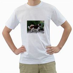 Welsh Springer Spaniel Full Men s T-Shirt (White) (Two Sided)
