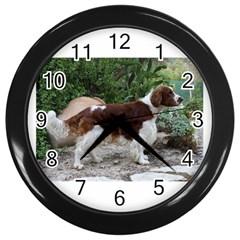 Welsh Springer Spaniel Full Wall Clocks (Black)