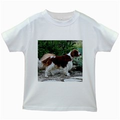 Welsh Springer Spaniel Full Kids White T-Shirts