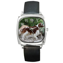 Welsh Springer Spaniel Full Square Metal Watch