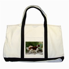 Welsh Springer Spaniel Full Two Tone Tote Bag