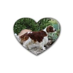 Welsh Springer Spaniel Full Rubber Coaster (Heart)