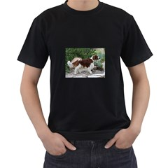 Welsh Springer Spaniel Full Men s T-Shirt (Black)