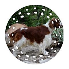 Welsh Springer Spaniel Full Round Filigree Ornament (2Side)