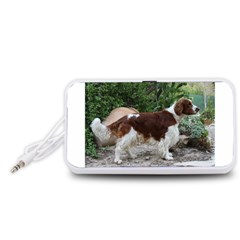 Welsh Springer Spaniel Full Portable Speaker (White)