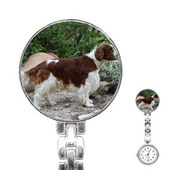 Welsh Springer Spaniel Full Stainless Steel Nurses Watch