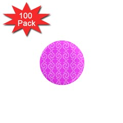 Pink elegant pattern 1  Mini Magnets (100 pack)