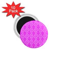 Pink elegant pattern 1.75  Magnets (10 pack)