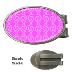 Pink elegant pattern Money Clips (Oval)