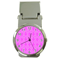 Pink elegant pattern Money Clip Watches