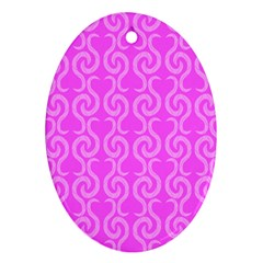 Pink elegant pattern Oval Ornament (Two Sides)