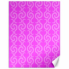 Pink elegant pattern Canvas 12  x 16