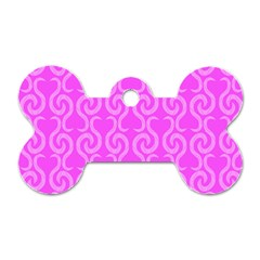 Pink elegant pattern Dog Tag Bone (One Side)