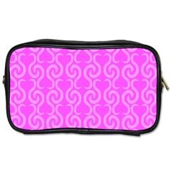 Pink elegant pattern Toiletries Bags 2-Side