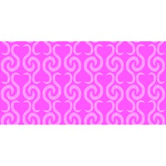 Pink elegant pattern YOU ARE INVITED 3D Greeting Card (8x4)