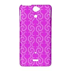 Pink elegant pattern Sony Xperia V