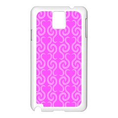 Pink elegant pattern Samsung Galaxy Note 3 N9005 Case (White)