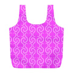 Pink Elegant Pattern Full Print Recycle Bags (l)