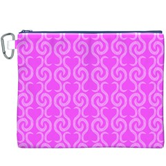 Pink elegant pattern Canvas Cosmetic Bag (XXXL)