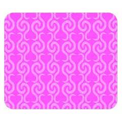Pink elegant pattern Double Sided Flano Blanket (Small)