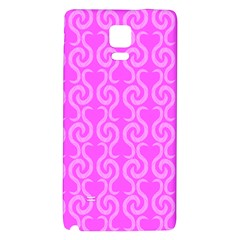 Pink elegant pattern Galaxy Note 4 Back Case