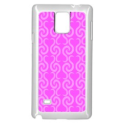 Pink elegant pattern Samsung Galaxy Note 4 Case (White)