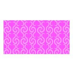 Pink elegant pattern Satin Shawl