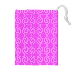 Pink elegant pattern Drawstring Pouches (Extra Large)