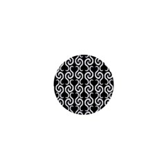 Black and white pattern 1  Mini Buttons
