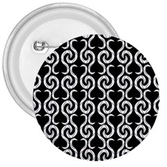 Black and white pattern 3  Buttons