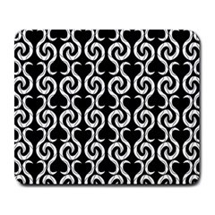 Black and white pattern Large Mousepads