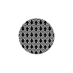Black and white pattern Golf Ball Marker
