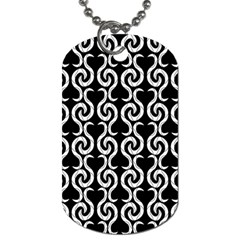 Black and white pattern Dog Tag (Two Sides)