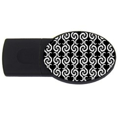 Black and white pattern USB Flash Drive Oval (1 GB)