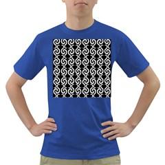Black and white pattern Dark T-Shirt