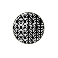 Black and white pattern Hat Clip Ball Marker (4 pack)