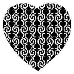Black and white pattern Jigsaw Puzzle (Heart)