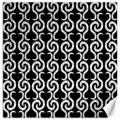 Black and white pattern Canvas 20  x 20