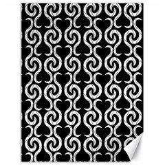 Black and white pattern Canvas 18  x 24