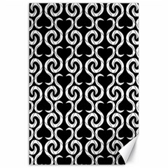 Black and white pattern Canvas 20  x 30