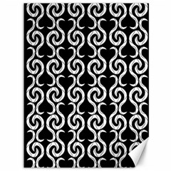 Black and white pattern Canvas 36  x 48
