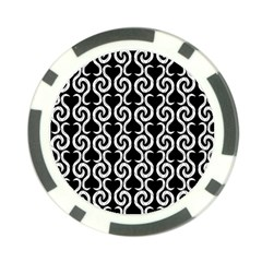 Black and white pattern Poker Chip Card Guards