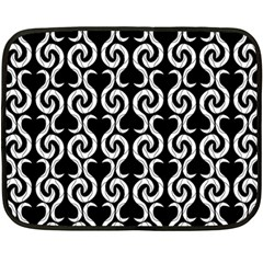Black and white pattern Double Sided Fleece Blanket (Mini)