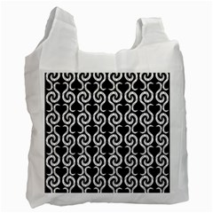 Black and white pattern Recycle Bag (One Side)