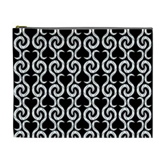 Black and white pattern Cosmetic Bag (XL)