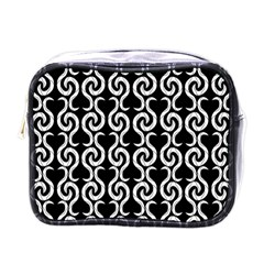 Black and white pattern Mini Toiletries Bags