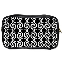 Black and white pattern Toiletries Bags
