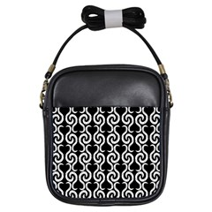 Black and white pattern Girls Sling Bags