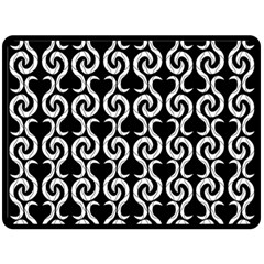 Black and white pattern Fleece Blanket (Large)